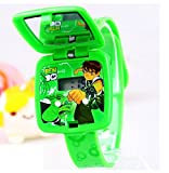 green Ben 10 Watch Square mirror flip children kids cartoon Watches WP@MYA163693G