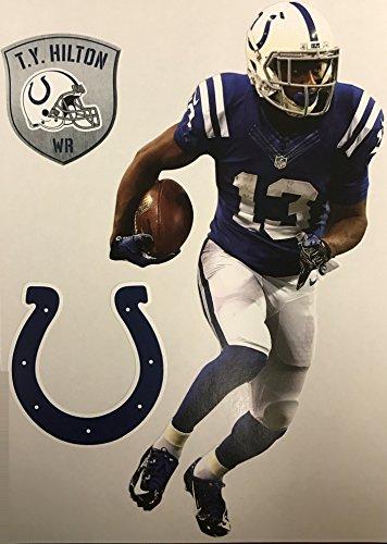 T.Y. Hilton Mini FATHEAD + Indianapolis Colts Logo + Bonus Shield Official NFL Vinyl Wall Graphics 7'' INCH, TOTAL OF 3 FATHEAD GRAPHICS by Fathead