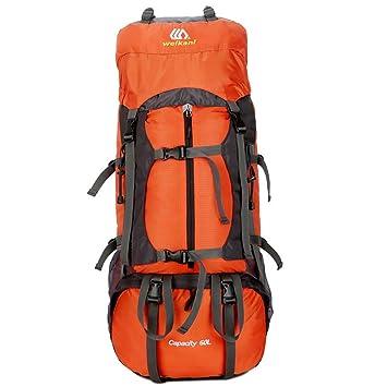 MRXUE Mochila de Camping para Hombres mujeres/60L Impermeable Viaje Deportes al Aire Libre Senderismo