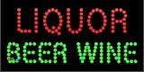 """12""""x24"""" Liquor Beer Wine LED Sign w/Flashing Controller offers"""