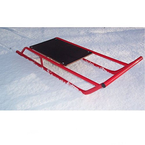 Snow Sledge / Toboggan / Sleigh Steel with Wooden Top Sled / Bobsled / Bobsleigh by A B Tools