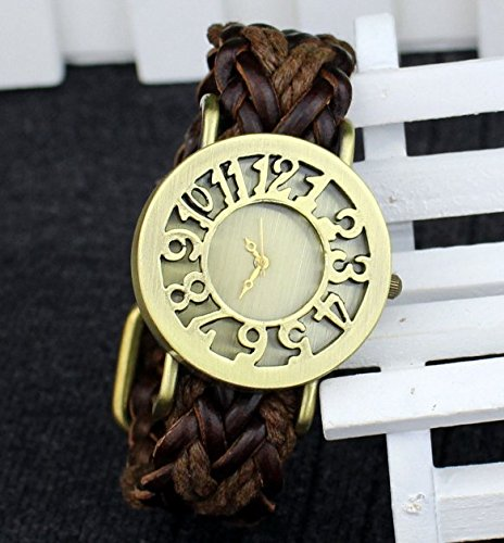 Vintage watch Korean Leather Bracelet antique leather watch wholesale hollow retro aliexpress selling EBAY: Amazon.es: Relojes