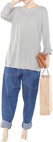 Tootess 女性クロップドデニムルーズカジュアルプラスサイズハイウエストハーレムパンツ