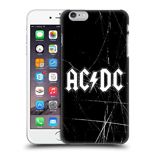 Officiel AC/DC ACDC Blanc Logo Étui Coque D'Arrière Rigide Pour Apple iPhone 6 Plus / 6s Plus