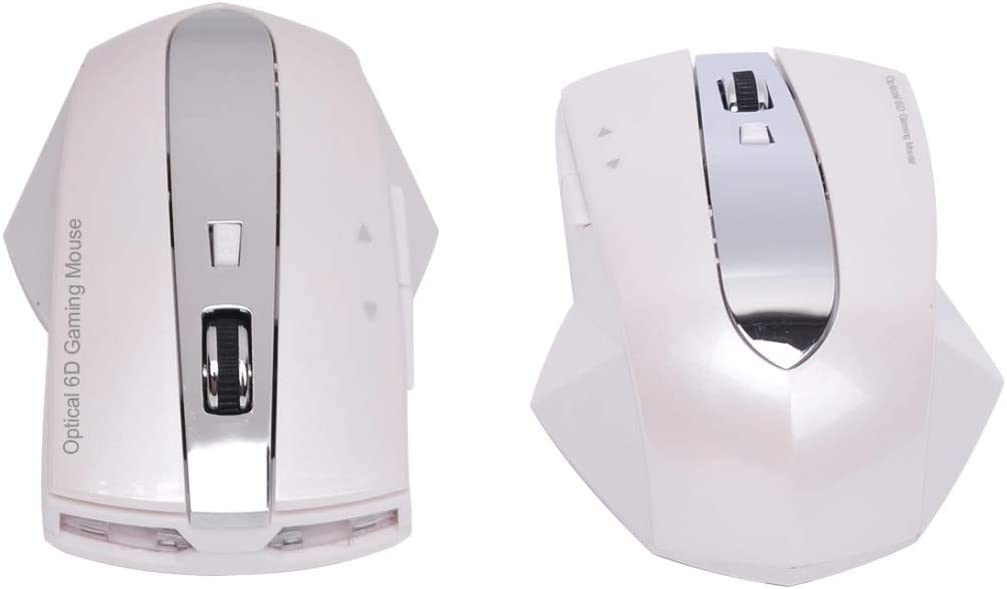 Black Color : Pearl White Ruijuxin 2.4GHz 1600DPI Radiocommunication Rechargeable Optic Mouse with HUB Function