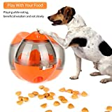 ONSON Interactive Dog Toy - Food Dispenser Ball Toy for Small Medium Large Dogs Durable Chew Ball - Boredom Puzzle Toys Food Slow Feeder Tumbler IQ Treat Ball - Easy to Clean(Orange)