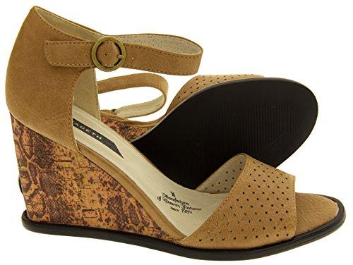 Elisabeth Compensées Footwear Beige Femmes Studio Sandales vxC5q