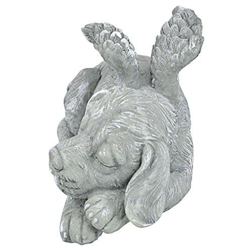 Design Toscano Dog Angel Pet Memorial Grave Marker Tribute Statue, 10 Inch, Polyresin, Stone Finish by Design Toscano (Image #2)
