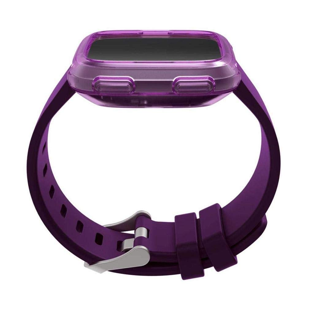 Fashion Clearance! Noopvan Fitbit Versa Protector, Soft TPU Protection Silicone Full Case Cover for Fitbit Versa (Purple) by Noopvan Strap (Image #6)