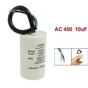 REFURBISHHOUSE CBB60 AC 450V 16uF Cable Moteur Course demarrage SH Condensateur 50//60Hz