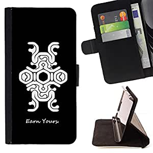 DEVIL CASE - FOR Samsung Galaxy A3 - Earn Money Gaming Quote Art Pattern Structure - Style PU Leather Case Wallet Flip Stand Flap Closure Cover