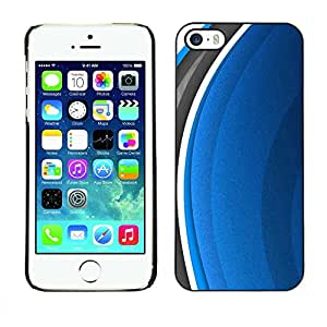 Exotic-Star ( Abstract Blue ) Fundas Cover Cubre Hard Case Cover para Apple iPhone 5 / 5S