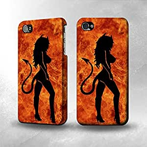 Apple iPhone 4 / 4S Case - The Best 3D Full Wrap iPhone Case - Sexy Devil Girl