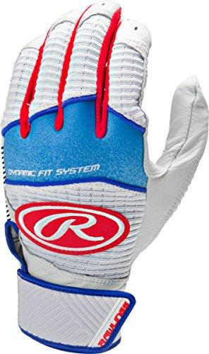 Rawlings Workhorse 950シリーズユースバッティング手袋 B01HH3LO5M Large|ホワイト/レッド ホワイト/レッド Large