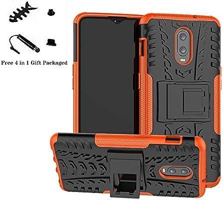 Oneplus 6T /Oneplus 7 Funda,LiuShan Heavy Duty silicona Híbrida Rugged Armor soporte Cáscara de Cubierta Protectora de Doble Capa Caso para Oneplus 6T /Oneplus 7 Smartphone (Not fit Oneplus 6),Naranja: Amazon.es: Electrónica