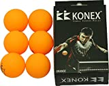 Konex Synthetic Table Tennis Ball, Pack of 6 (Yellow)