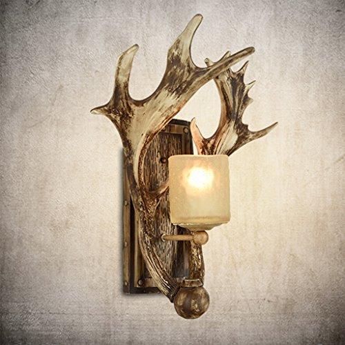 (Chandelier/antler chandeliers/Vintage Chandelier Retro Creative Wall lamp Antlers Wall lamp Living Room Bedside Bedroom Personality Decoration Deer Aisle Aisle Light American Lamps )