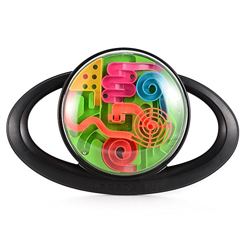 Brain Intelligent Game (Twister.CK 3D Maze Racer Handheld Game, Hot Sale Intelligent Maze Racer Game, Steering Wheel Maze Ball Toys, Highly Addictive Maze Game, Racer Maze Game, Friendly ABS Plastics Materials (Black).)