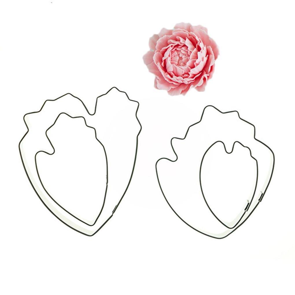 4pcs Herramienta de moldeo Peony p/étalos de la Flor de Acero Inoxidable Cortador de la Galleta de la Torta fgyhty