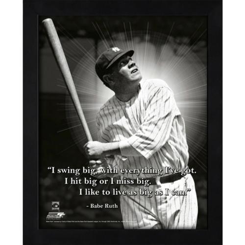 Babe Ruth Framed (Babe Ruth New York Yankees (Swinging) Framed 11x14