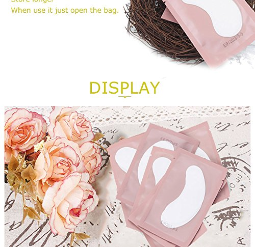 casa shop 50 Pairs/Pack Pink Women Under Eye Pads Patches Eyelash Extension Eye Lash Paper Stickers