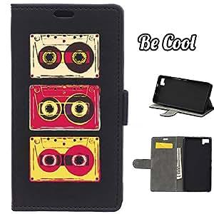 BeCool® - Funda carcasa tipo Libro para bq Aquaris M5 protege tu Smartphone ya que se adapta a la perfección, tiene Función Soporte, ranuras para tus tarjetas y billetes sin olvidar nuestro exclusivo diseño