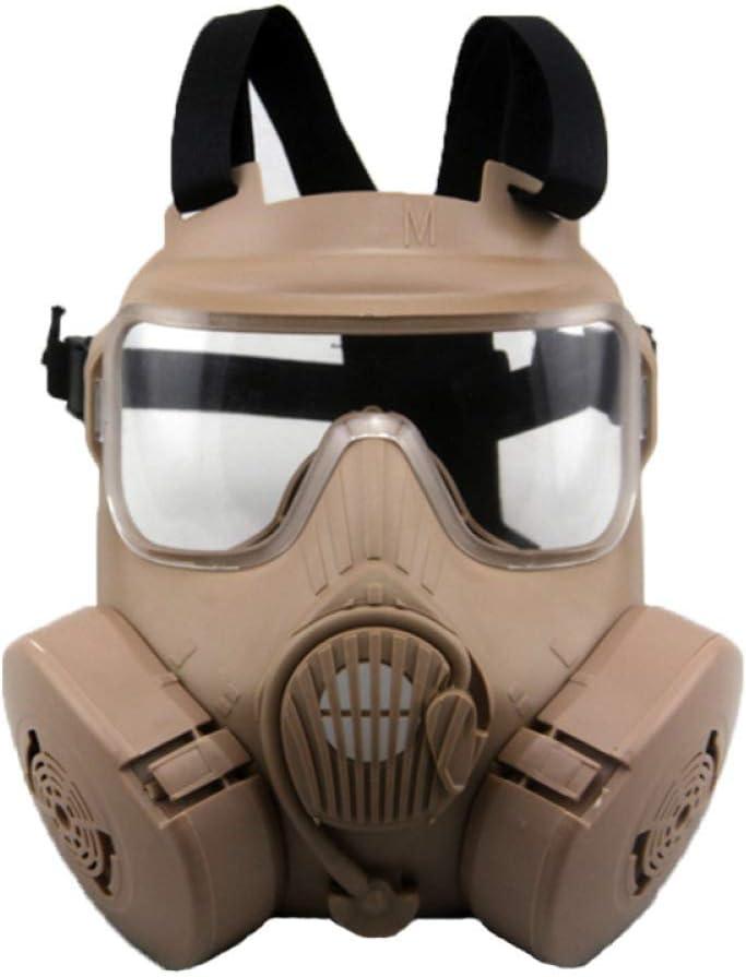 Purge Skull Masquerade Airsoft Tactical Mask Costume Carnival Full Face Protección Para Los Ojos Máscaras De Halloween Para Adultos Cosplay Party,Beige-OneSize