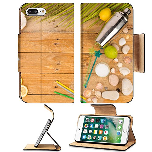 Luxlady Premium Apple iPhone 7 Plus Flip Pu Leather Wallet Case iPhone7 Plus 31194518 Summer party table with cocktail accessories and (Halloween Fruit Cocktails)