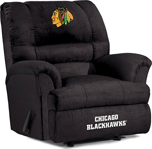Imperial Officially Licensed NHL Furniture: Big Daddy Microfiber Rocker Recliner, Chicago Blackhawks (Team Recliner Daddy Big Chair)