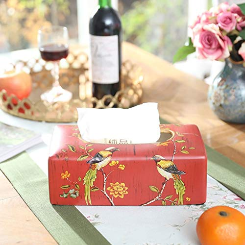 HEMFV Boutique Ceramic Tissue Box,Home Model Room