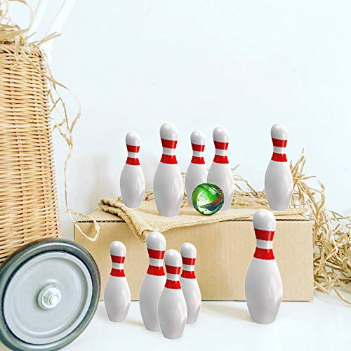 Miniature Bowling Game Set -24 Pack Deluxe - for Kids, Playing, Party, Fun, Boys, Girls, Bowlers Etc.- Kidsco by Kicko (Image #8)