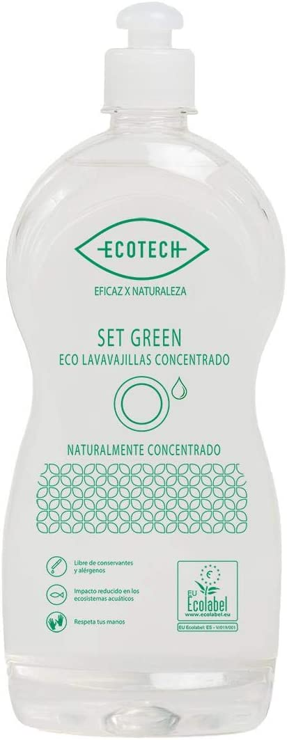 Lavavajillas Manual Concentrado Green Eco Granel Ecotech 20L Envase Vacío Lavavajillas Green 1L