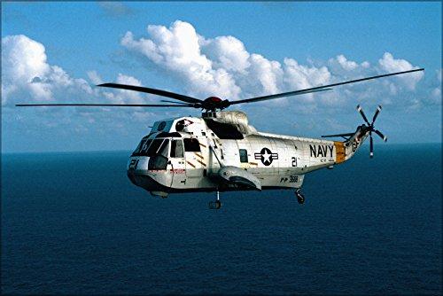 42x63 Poster; U.S. Navy Sikorsky Sh-3G Sea King Helicopter 1983 (Sikorsky Sh 3 Sea King Navy Helicopters)