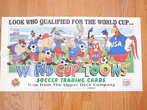 - 1994 Upper Deck World Cup Toons Dealer Advertising Poster 34