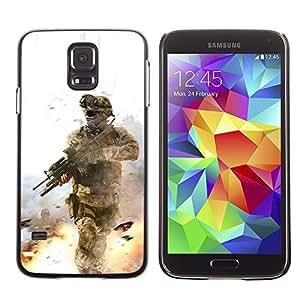 TopCaseStore / la caja del caucho duro de la cubierta de protección de la piel - Soldier Battle Field - Samsung Galaxy S5 SM-G900