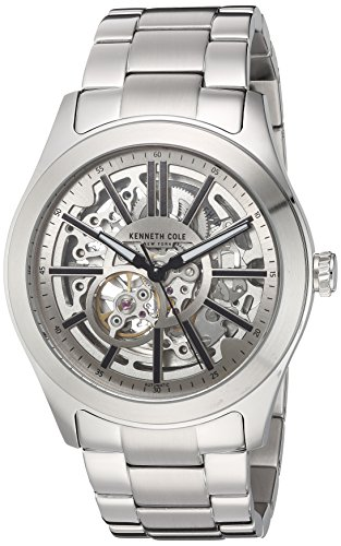 Kenneth Cole New York Men's ' Automatic Stainless Steel Dress Watch, Color:Silver-Toned (Model: 10030815) (Men Kenneth Cole Watch Skeleton)
