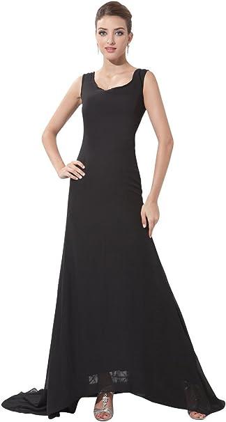 Schlicht Schwarze Gunstige Lange Ballkleid Abendkleid 48 Amazon De Bekleidung