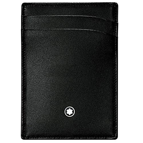 Montblanc Credit Card Case, BLACK (Black) - 107346 (Dunhill Leather Wallet)