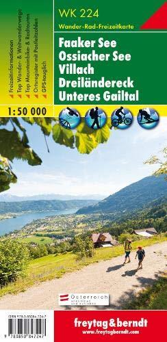 Faaker See - Ossiacher See - Villach - Dreiländereck - Unteres Gailtal Wanderkarte 1:50.000 WK 224: Wandel- en fietskaart 1:50 000