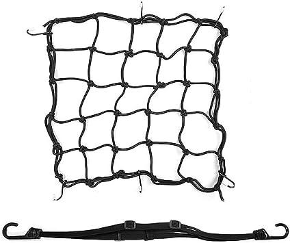 2 Stück Motorrad Gepäcknetz Fahrrad Netz Helmnetz Einziehbares Elastisches Seilgurt Bungee Netz Mit 6 Haken Für Atvs Mit Motorrad Gepäckraumabdeckung Auto
