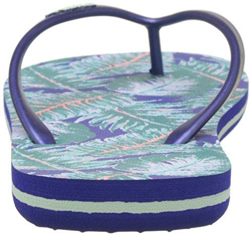 ONeill Damen FW Printed Flip Flop Dusch-& Badeschuhe Blau (BLUE Allover Print W/ GREEN)