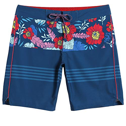 MaaMgic Mens Board Shorts Stretch Beach Wear Swim Trunks with Mesh Lining Funny Qucik Dry Bathing Suit Sailor Blue]()