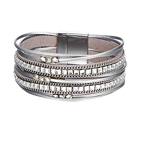 Magnetic Multi-Layer Clasp Bracelet,Elegant Bangle Jewelry, Perfect Gift for Birthday Graduation Valentine's Day Festival, for Women Men