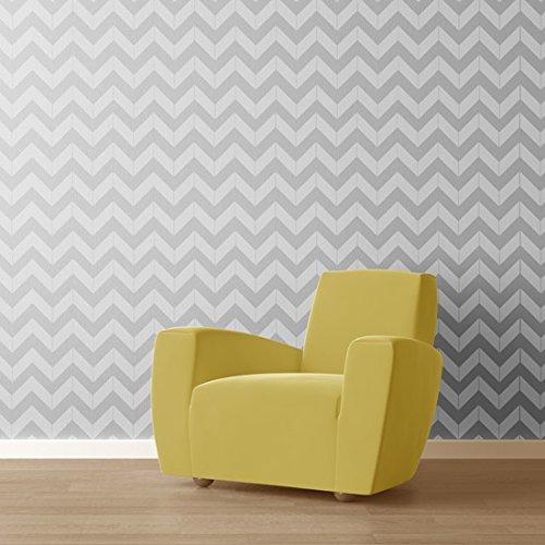 Chevron Wall Stencil | DIY Home Decor Stencils | Paint Stencil for Walls, Furniture, Floors, Fabric (Chevron Furniture Stencil For)