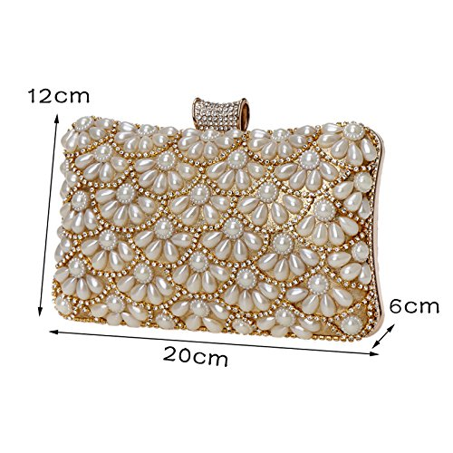 Blue Pearl Bag Banquet Evening Dress Women's Clutch Dinner GROSSARTIG aq8dwCgC