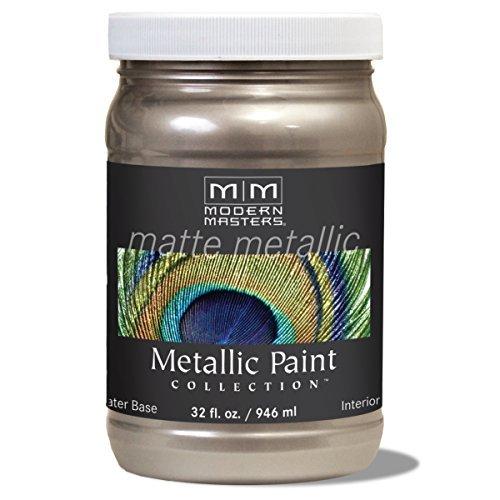 Modern Masters MM221 Matte Metallic Paint, Warm Silver, Quart by Modern Masters