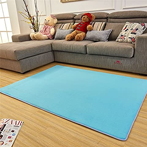 Adasmile Super Comfortable Anti-slip Area Rugs/Floor Mat/Cover Carpets with Small Amount of Memory Foam for Living Room/bedroom/Nursery/Teens/Home Decorate,Baby blue,4Ftx5Ft