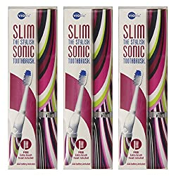 Violife Slim Sonic Toothbrush, Mirage, (Pack of 3)