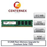 512MB RAM Memory for Evesham Solar 7500 (DDR26400 NonECC) Desktop Memory Upgrade by US Seller