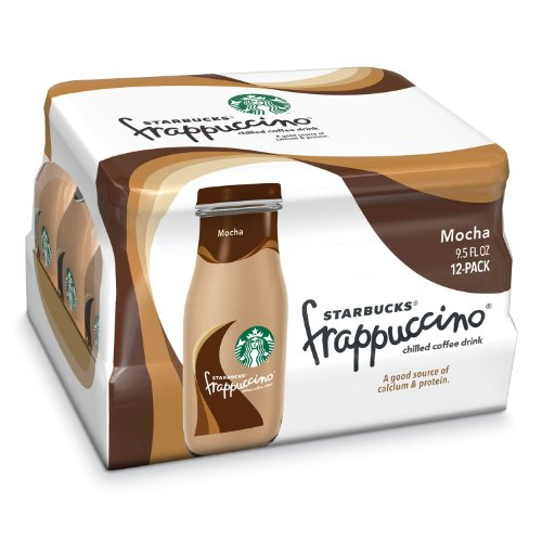 Starbucks Coffee Frappuccino Coffee Drink Mocha, 9.5 Ounce Bottles Total (24 Pack) by Starbucks